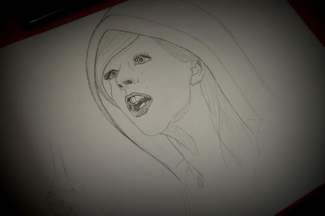 Drawing a magician girl - 2