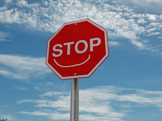 Happy Stop Sign