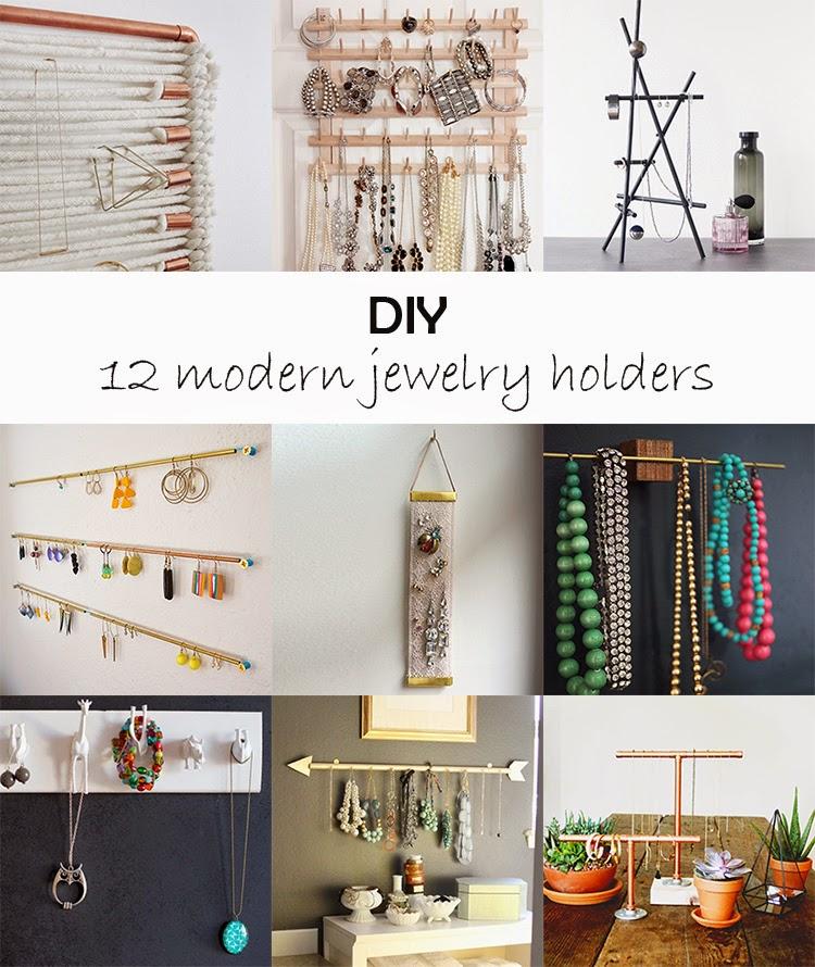 DIY Monday # Modern jewelry holders