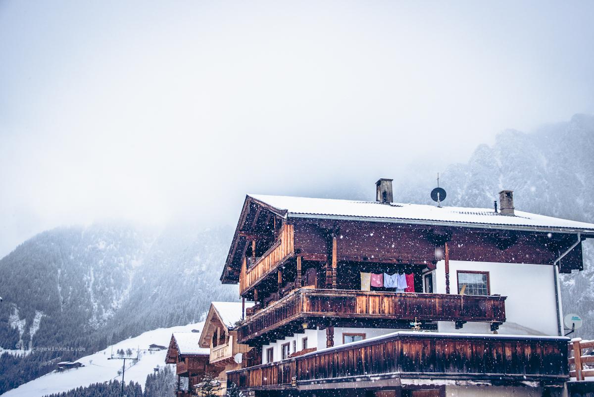 Schnee im Alpbachtal