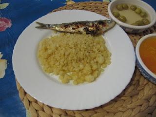 Tapa de migas y sardinas