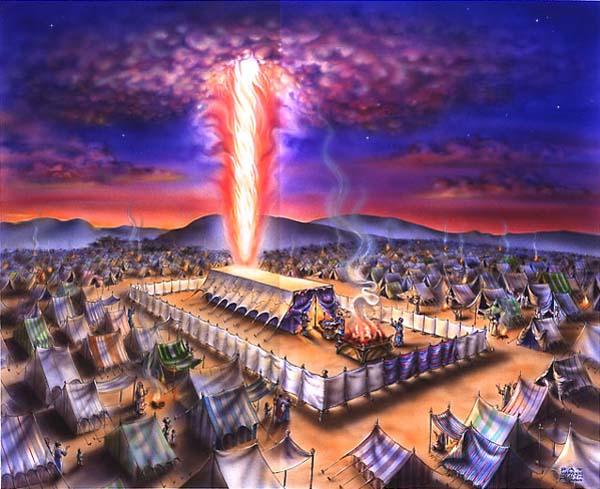 SHEKINAH GLORY IN TABERNACLE