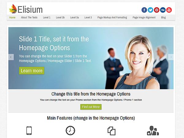 Elisium Free WordPress theme 2014