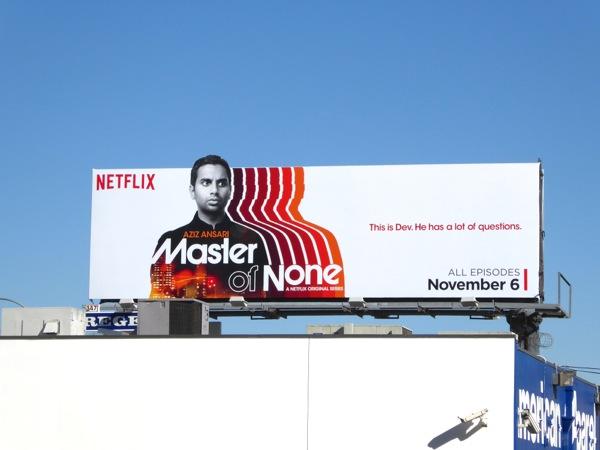 Master of None series premiere billboard