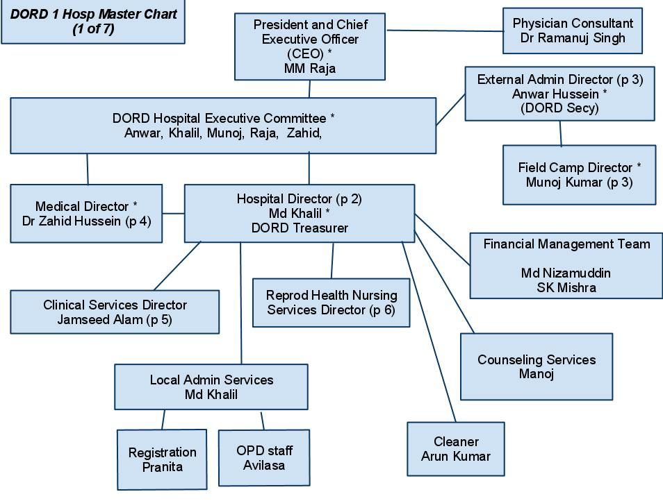 Organizational Chart of Hospital http://larryinindia2011.blogspot.com/