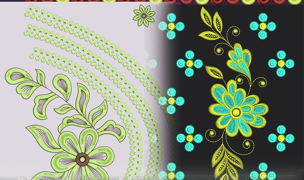 Multi Embroidery Saree Design Collection - Latest Embroidery