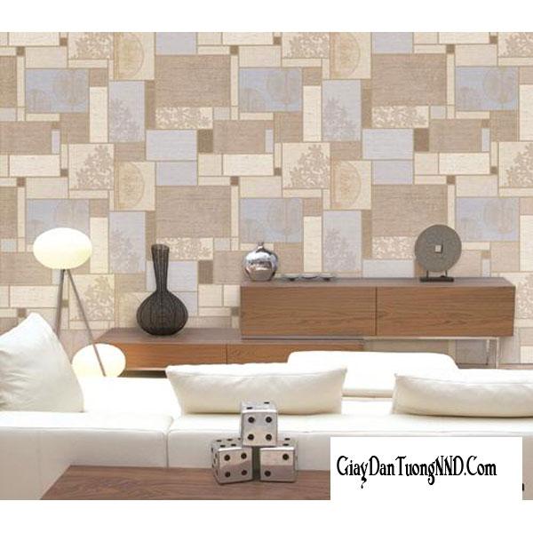 mẫu giấy dán tường phòng khách hiện đại