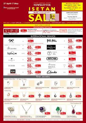 Isetan KLCC Anniversary Sale & Member Day