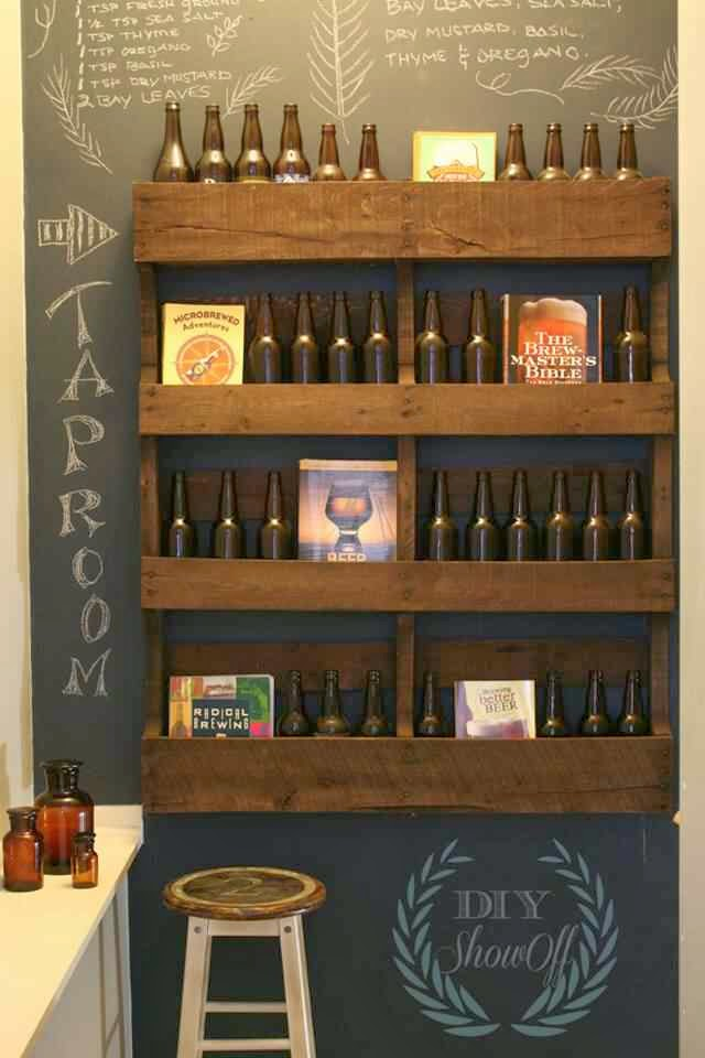Beer Wine Rack - The Lazy DIY'er - Pallet Furniture Round-up - Chamomile and Peppermint Blog