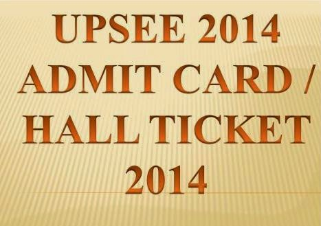 Download UPSEE 2014 Admit Card, Hall Tickets @ www.upsee.nic.in
