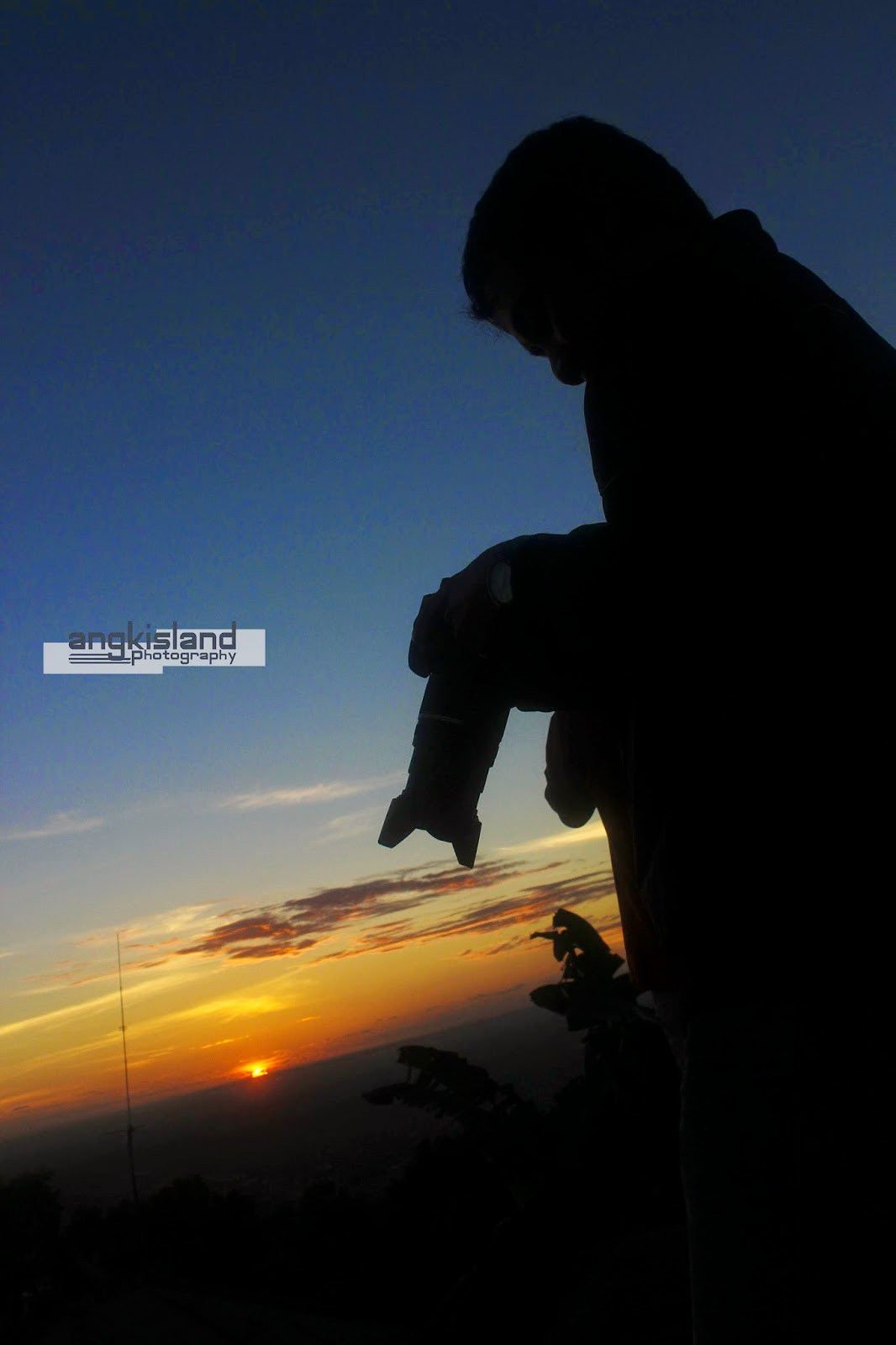 sunset time at jogja