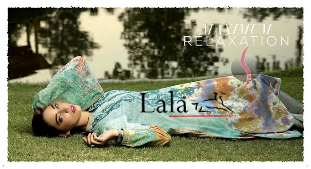 Crinkle Embroidered Eid Collection by Lala
