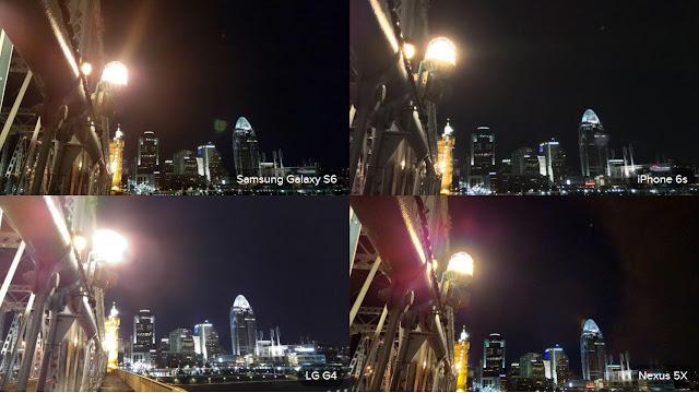 Test Photo Galaxy S6 Camera, LG G4 Camera, iPhone 6S Camera Night