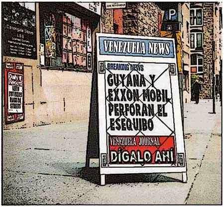 Newsstand tipo cómic - ExxonMobil y Esequibo de Venezuela