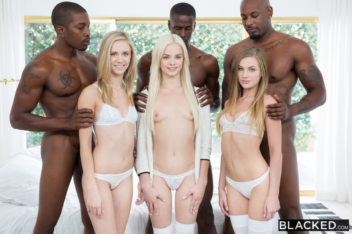 Preppy Girl Threesome Get Three BBCs – Elsa Jean, Rachel James, Sydney Cole, Isiah Maxwell, Jason Brown & Flash Brown
