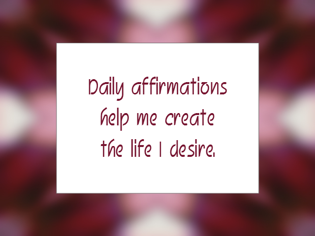 AFFIRMING affirmation