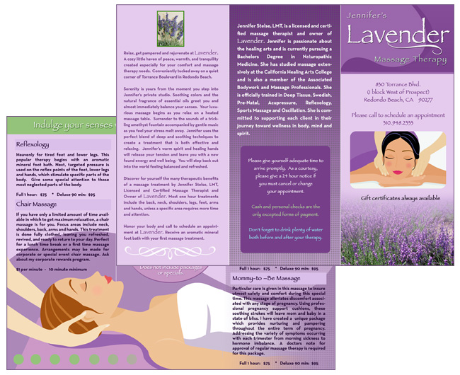 Brochure Zafira Pics: Brochure Templates For Massage Therapy