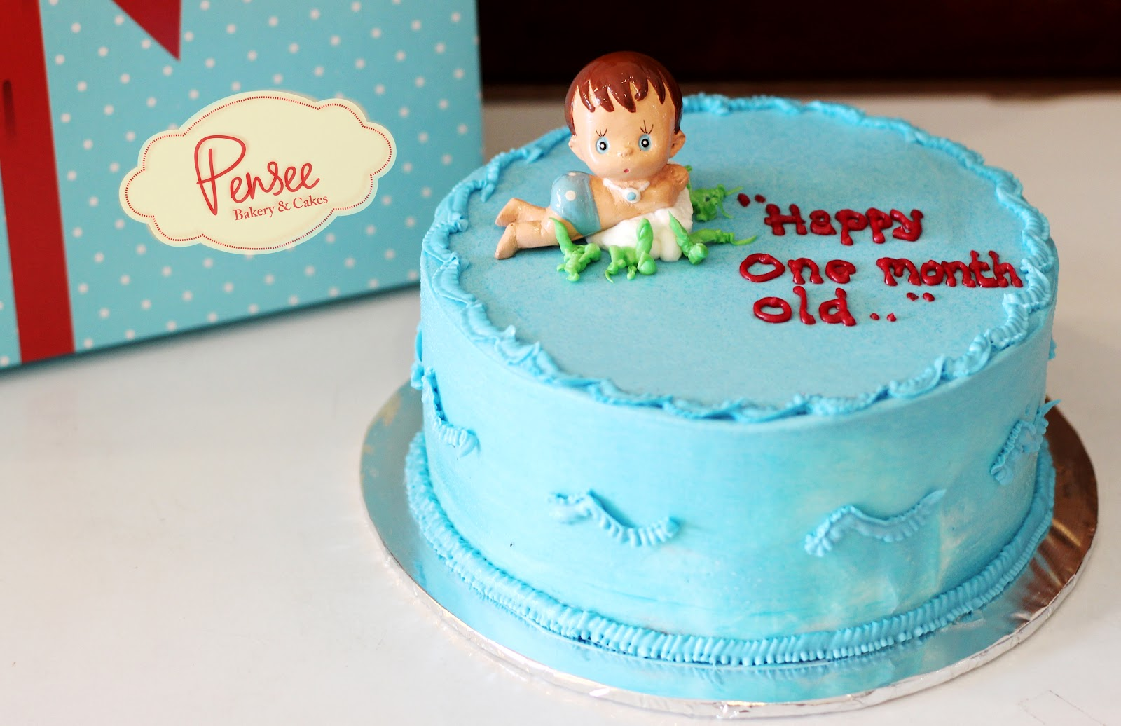 One Month Baby Cake Pensee Bakery