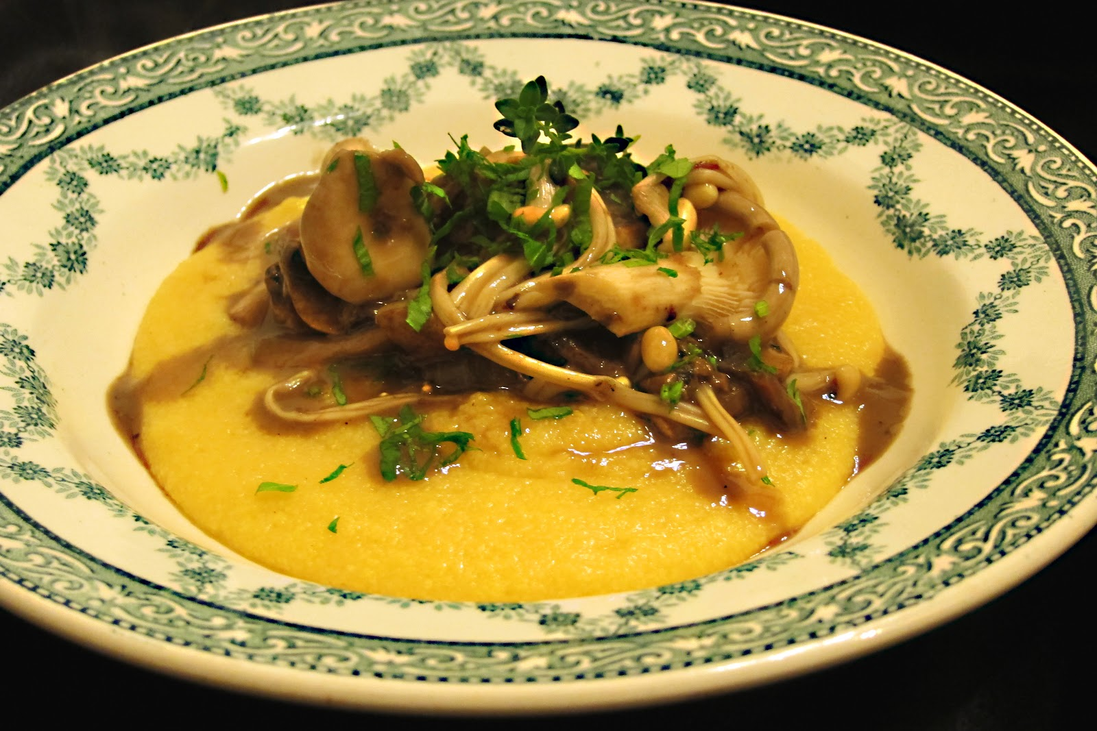 Creamy Polenta With Forest Mushrooms Recipes — Dishmaps