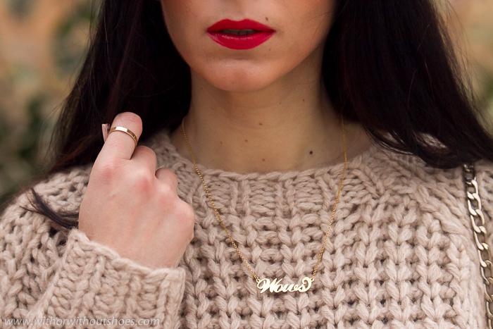 Tedencia accesorios joyas collar gargantilla capada en oro con nombre