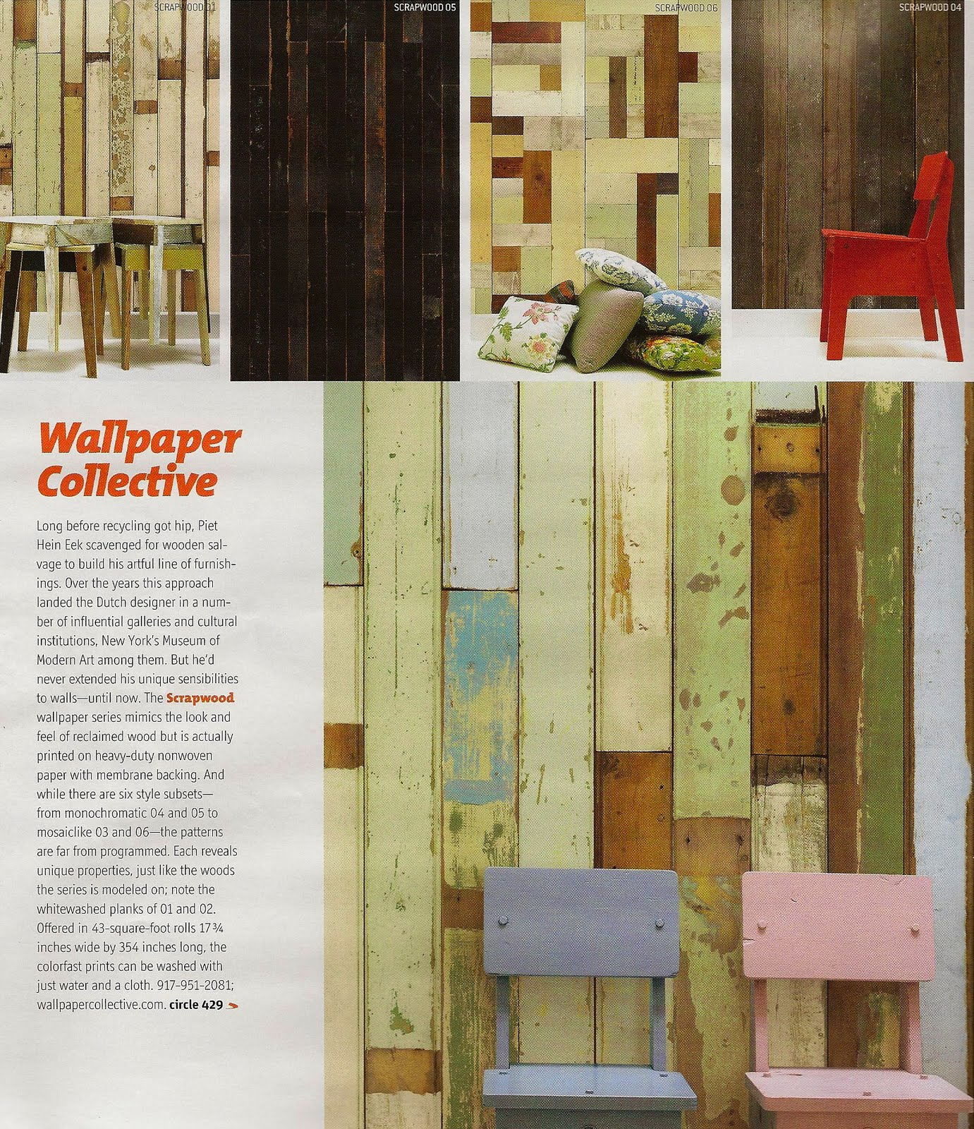 ... Has To Be You®: Scrapwood wallpaper by Dutch designer Piet Hein Eek