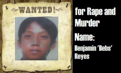 WANTED: Benjamin 'Bebs' Reyes