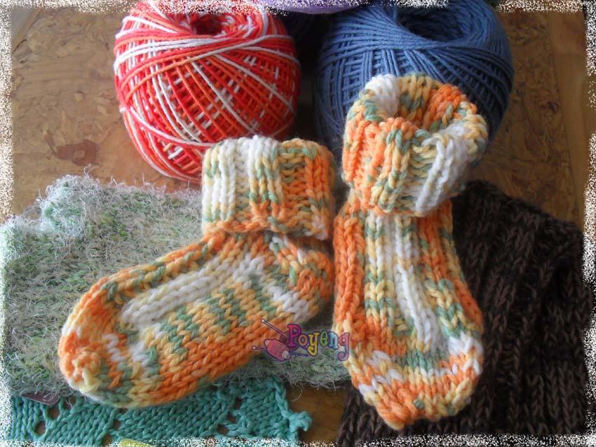 Ajeng Belajar Merajut: Rajut Free Knitting Pattern : baby socks