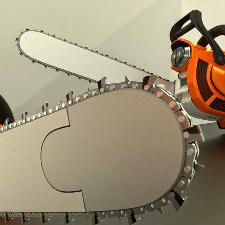 High poly Chainsaw by DennisH2010
