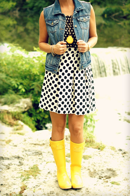 yellow polka dot rain boots | Gommap Blog
