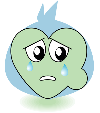 Crying heart for Facebook