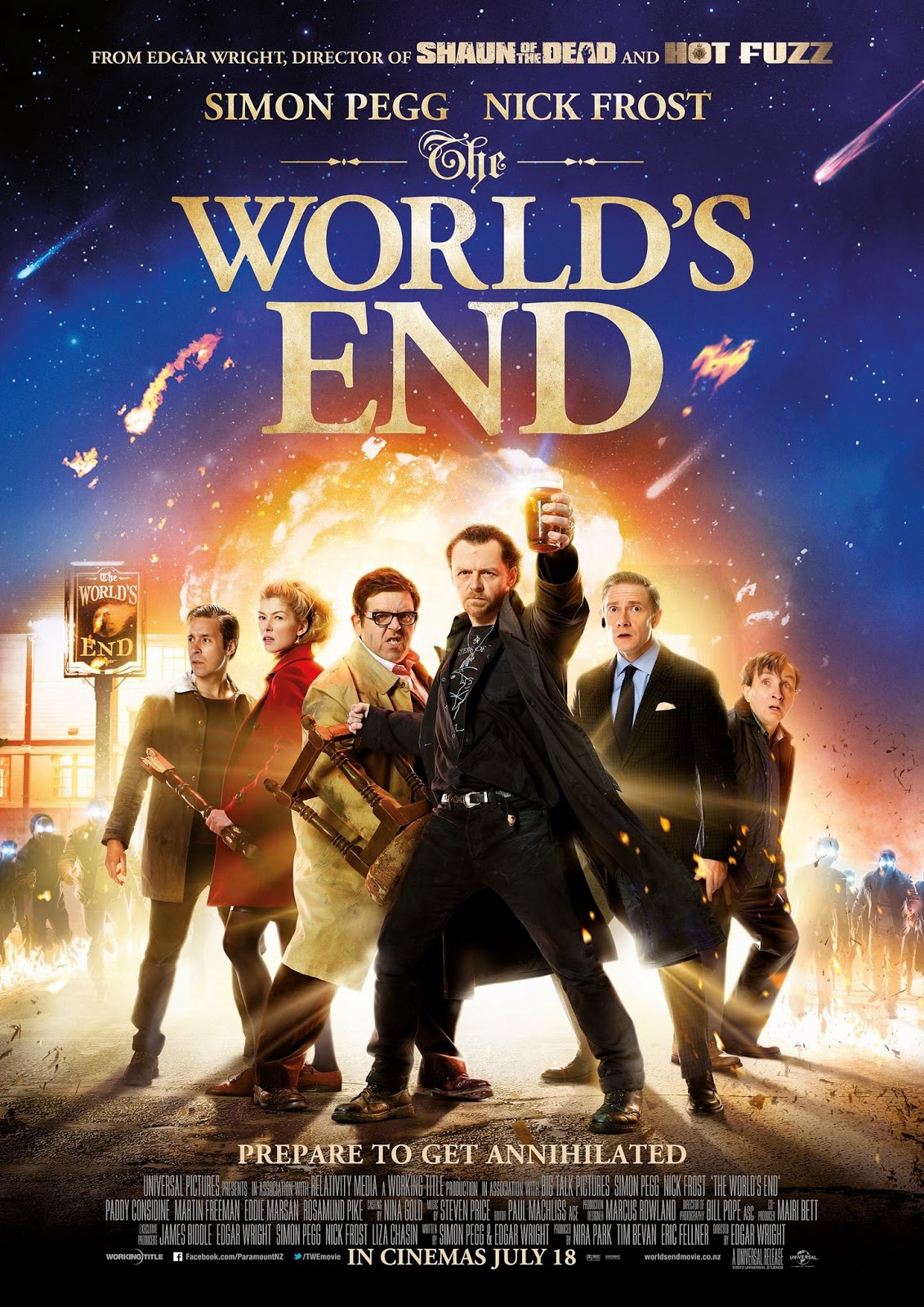 movie poster of the worlds end teaser trailer