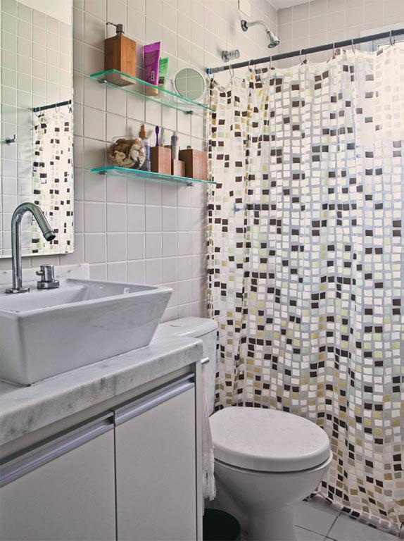 Blog Achados de Decoração  VIVENDO SUPER BEM 56 m2 apartamento decorado em SP -> Cuba De Vidro Para Banheiro Telha Norte