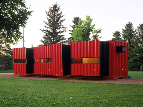 LOOKINGblog: 40-Feet Cargo Containers . Small-Home Spaces