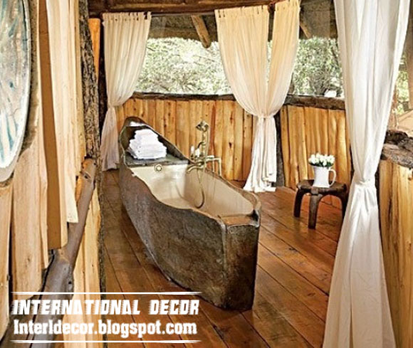 Creative and luxury wooden bathtub designs uk for Rustic wood designs