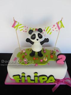 Bolo e Bolachas Panda para o 2º aniversário da Filipa