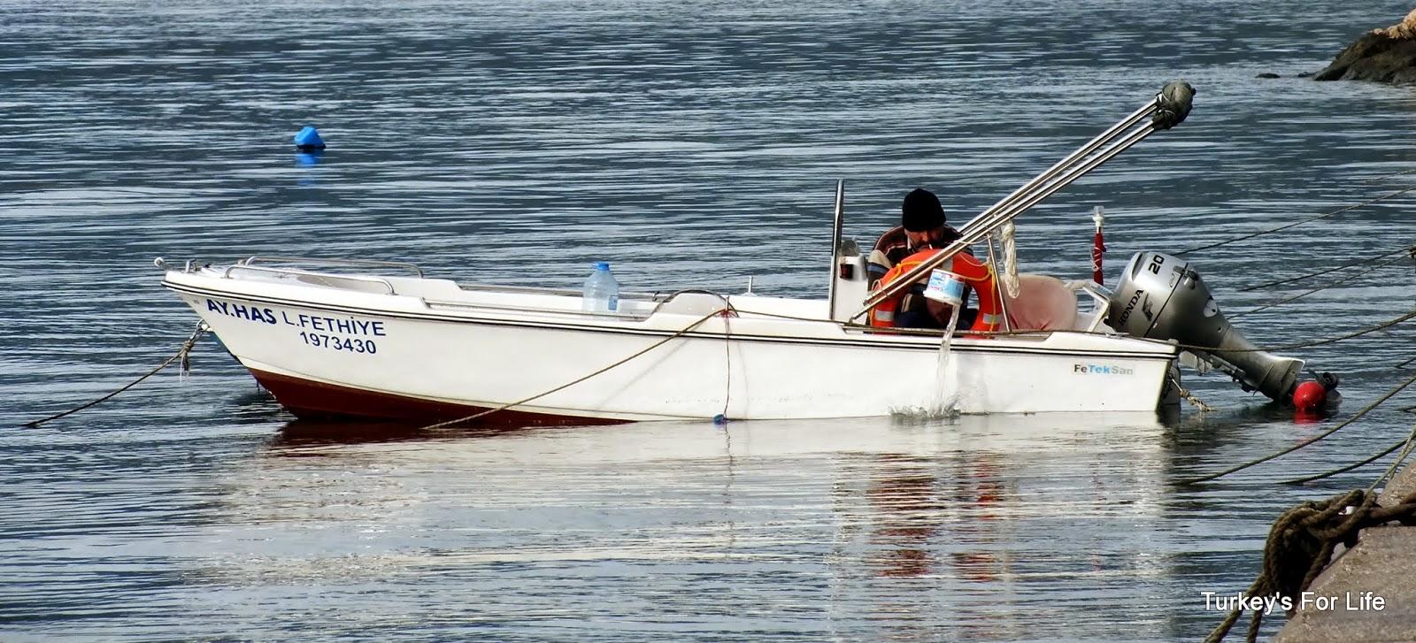 Fethiye Boat After Storm