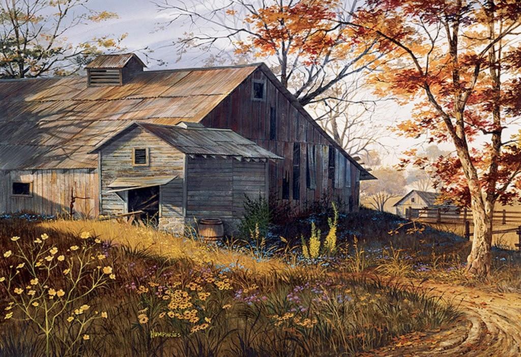 cuadros-de-paisajes-al-oleo-con-casas-antiguas
