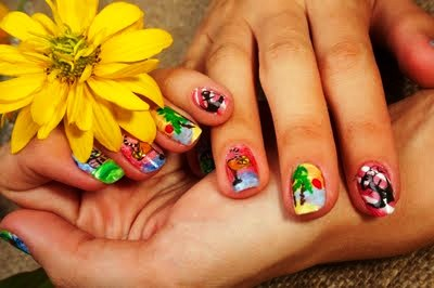 Hollywood Trendy Funky Nail Art
