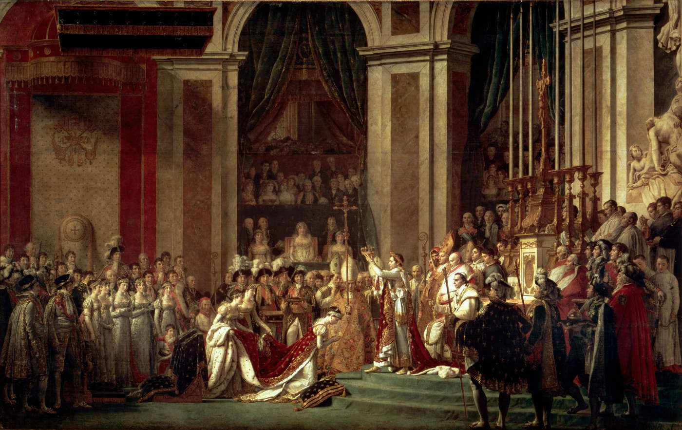 Consecration of the Emperor Napoleon I and Coronation of the Empress Josephine 1805. 629 x 979 cm