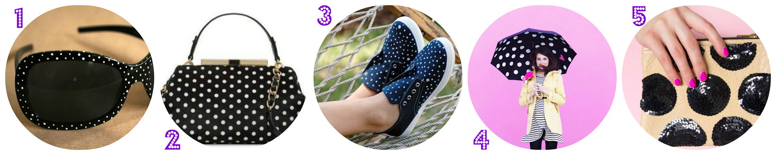 ACCESORIOS DE MODA CON ESTAMPADO DE LUNARES / POLKA DOT PATTERN ON FASHION DIY