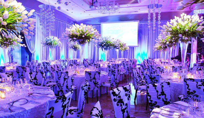 Royal blue silver white wedding decorations http for Ideas for wedding pictures