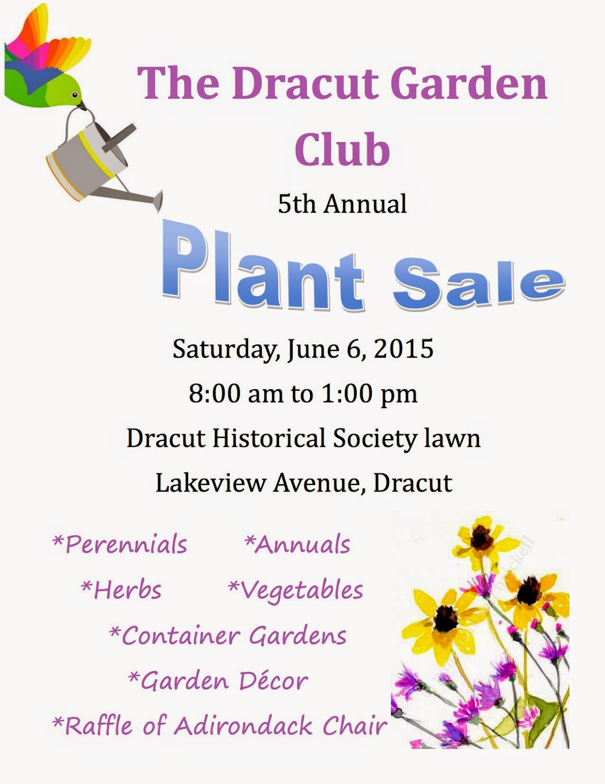 Please join us for great deals on locally grown plants at our annual garden  club plant sale. Dracut Garden Club  Save the Date for our annual Plant Sale