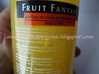 Joanna, Fruit Fantasy, Gruboziarnisty peeling do ciała 'Hawajski ananas'♥ czyli najlepszy letni peeling