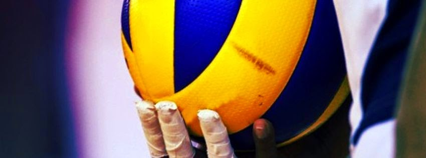 Couverture facebooka avec image volleyball