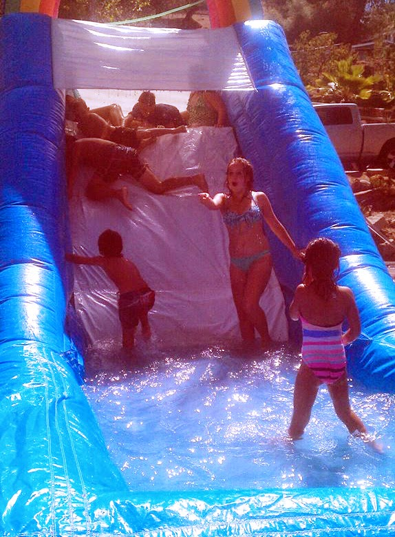 The weather was perfect for water fun.