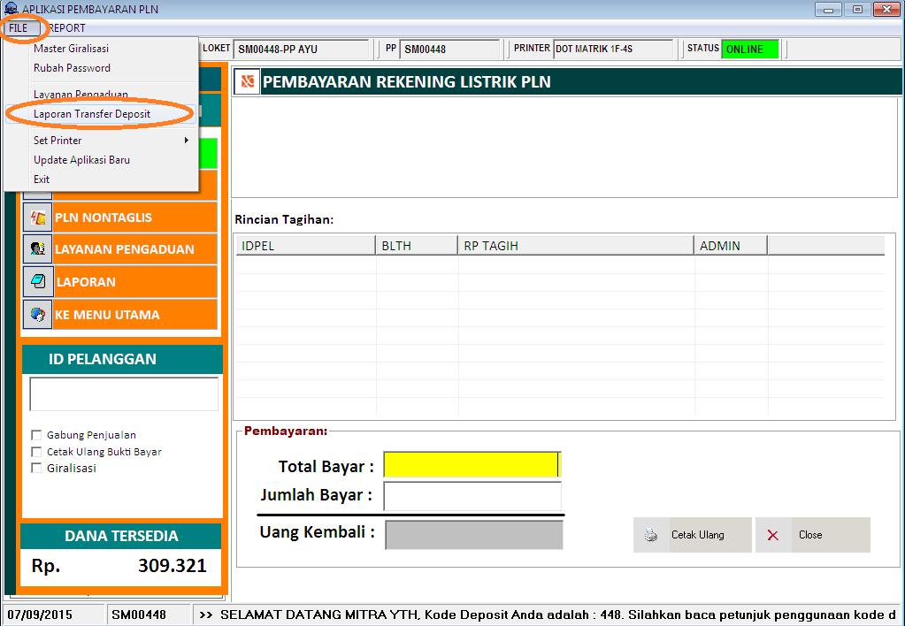 Silahkan kolom Nomor Validasi diisi sesuai dengan NAMA PENGIRIM yang ...