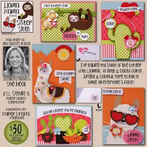 Mama Llama Sister Sloth Card Kit