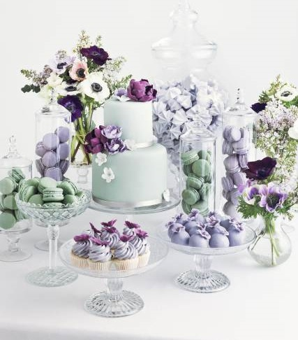 wedding dessert tables by holy sweet things festive. Black Bedroom Furniture Sets. Home Design Ideas