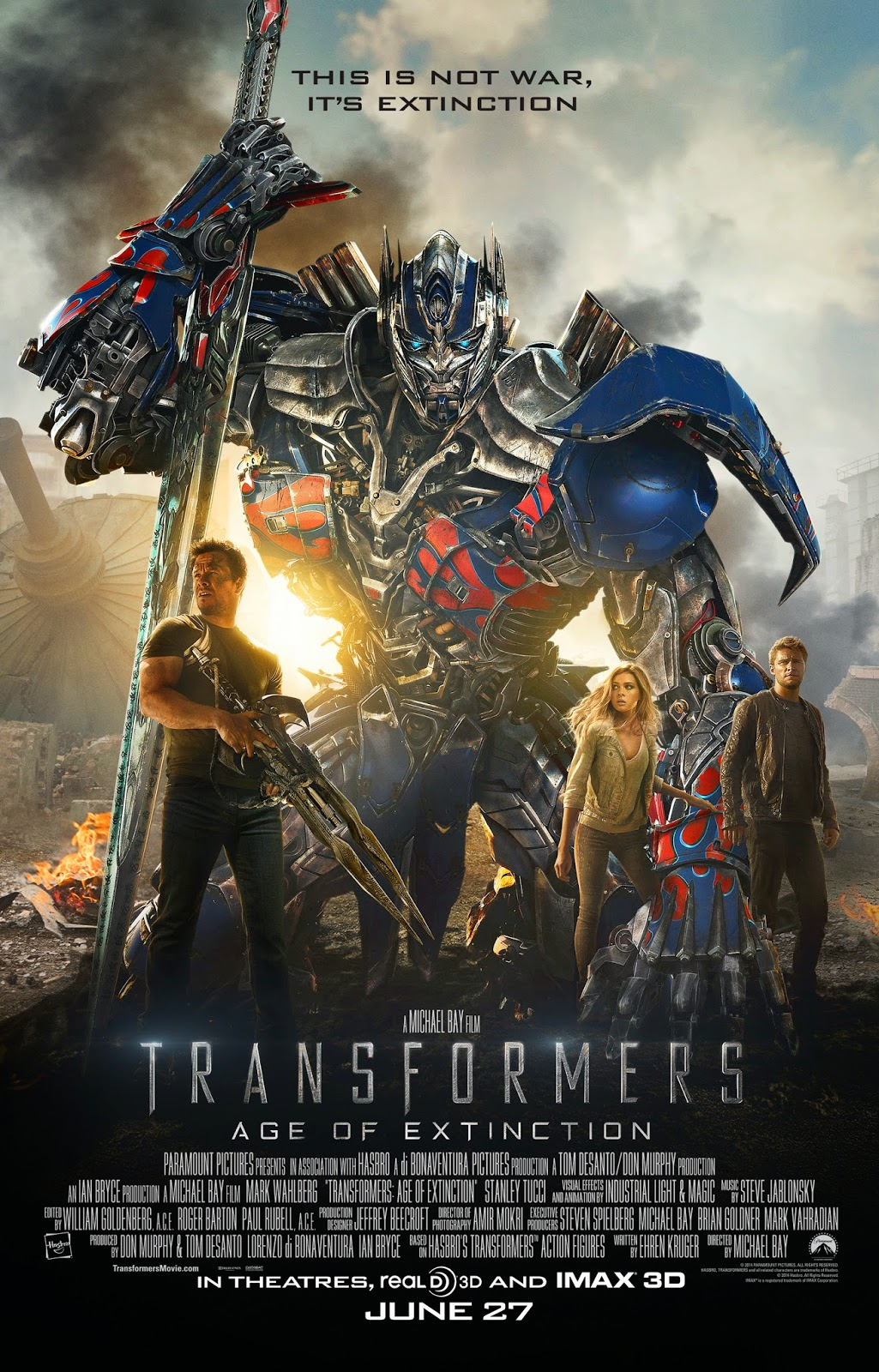 Official Poster for Transformers: Age of Extinction