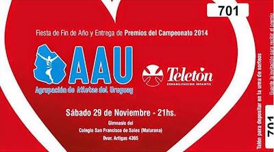 Fiesta final y premiación AAU 2014 (Maturana, 29/nov/2014)